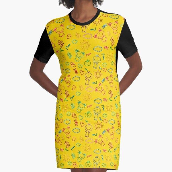 Nina Kids Hairdresser Graphic T-Shirt Dress