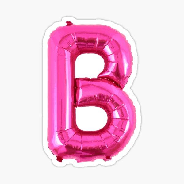 3D LETTER B as a Pink Balloon Sticker