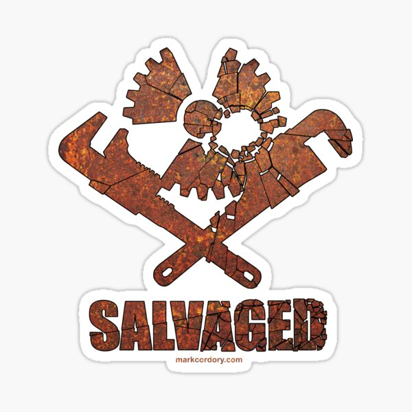 SALVAGED Ware Cog & Wrenches logo Sticker