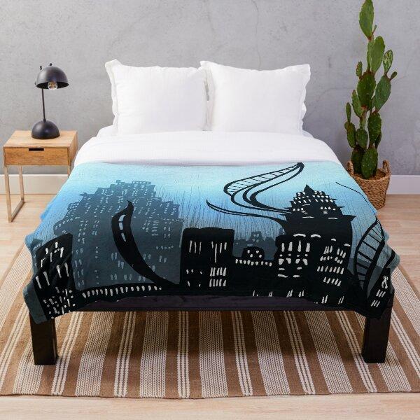 Amaurot - Inktober Throw Blanket