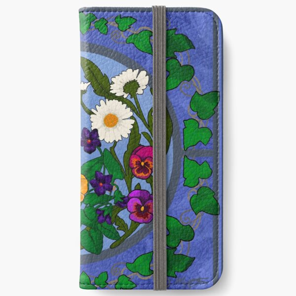 Daisy, Violet and Ivy-- Periwinkle iPhone Wallet
