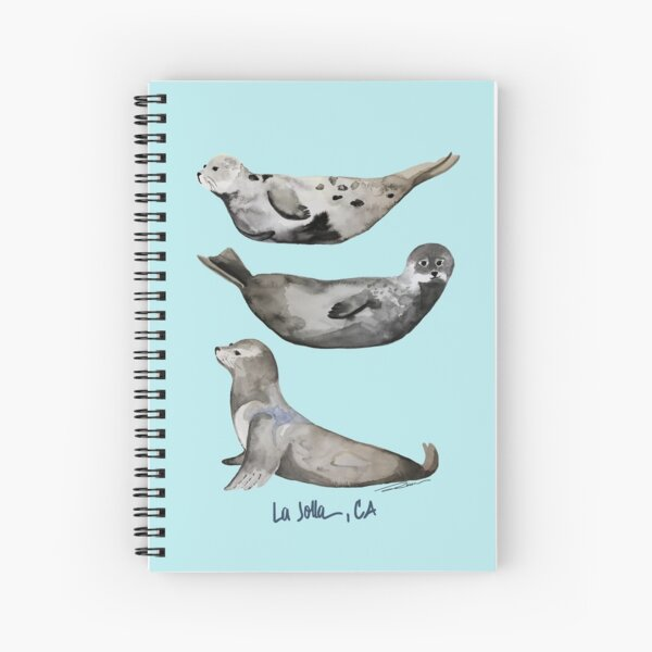 La Jolla Seals Spiral Notebook