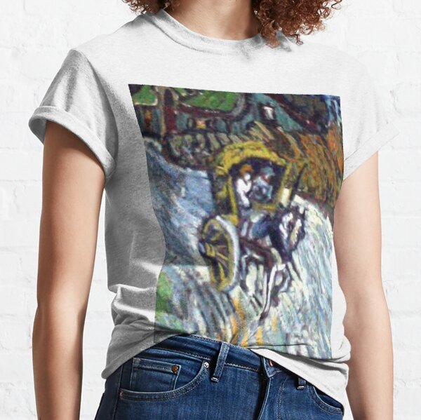 Van Gogh - Country road in Provence by night, painting Classic T-Shirt