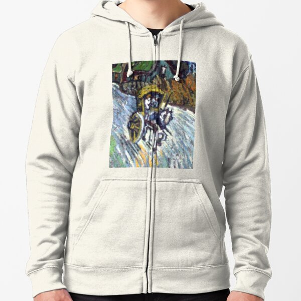 Van Gogh - Country road in Provence by night, painting Zipped Hoodie