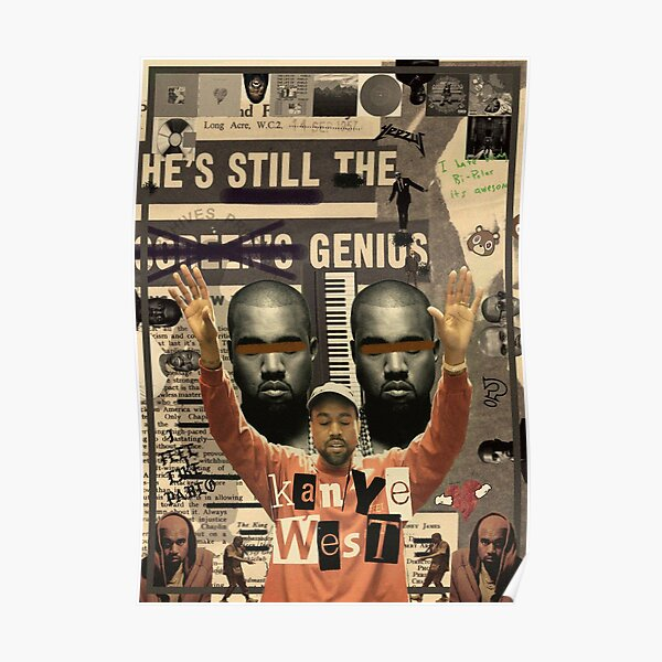 Kanye West Collage Poster Poster