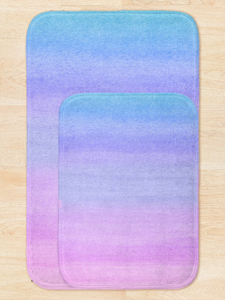 Alternate view of Colorful Ombre Abstract Watercolor Pattern Bath Mat