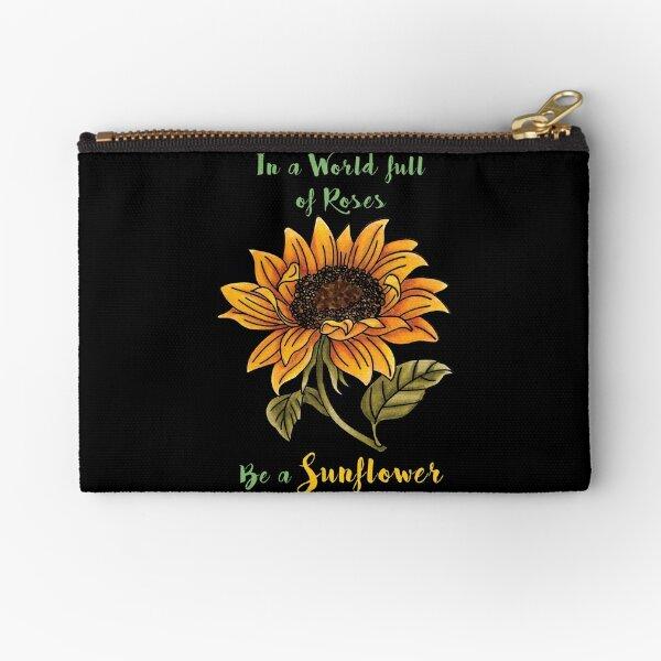 Be a Sunflower Zipper Pouch