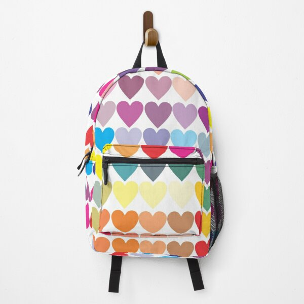 Colorful Heart Pattern Backpack