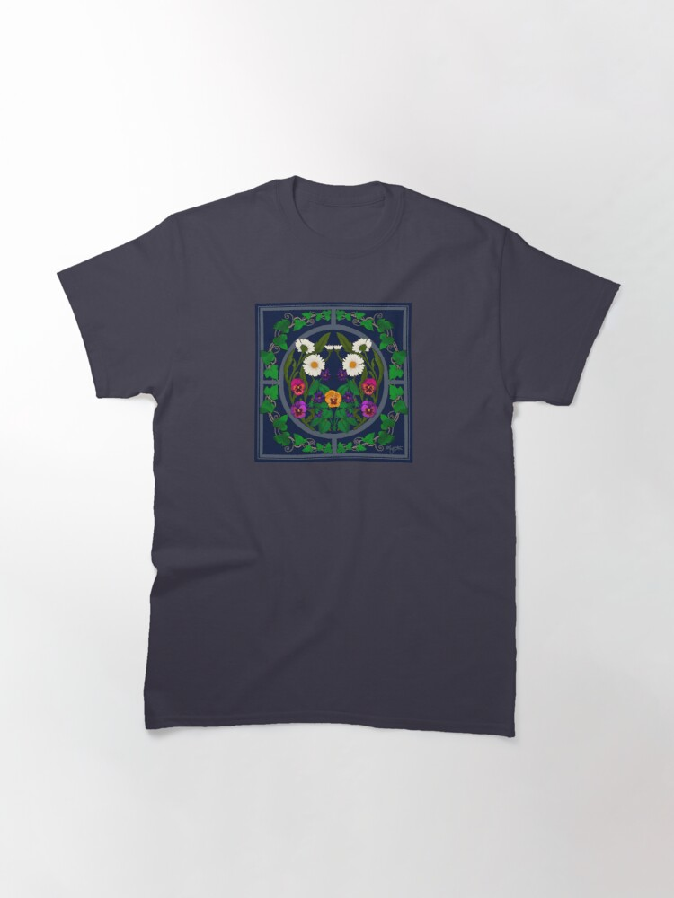 Alternate view of Daisy, Violet, Ivy-- Navy Classic T-Shirt