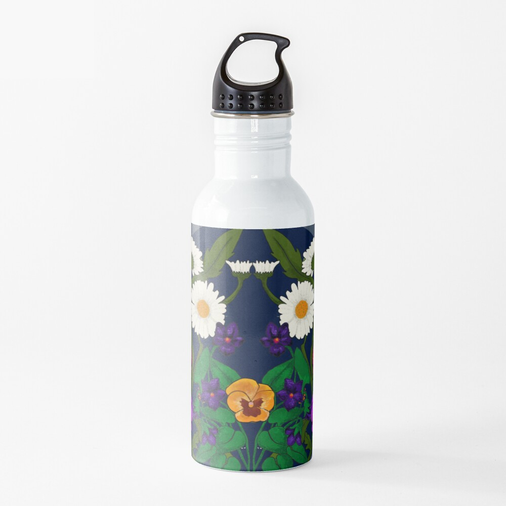 Daisy, Violet, Ivy-- Navy Water Bottle