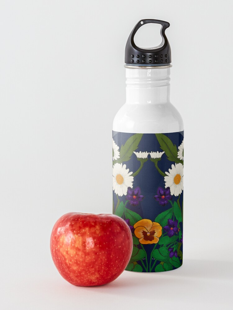 Alternate view of Daisy, Violet, Ivy-- Navy Water Bottle