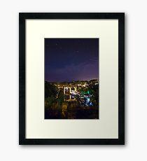 Knaresborough railway viaduct and the River Nidd Gorge Framed Print