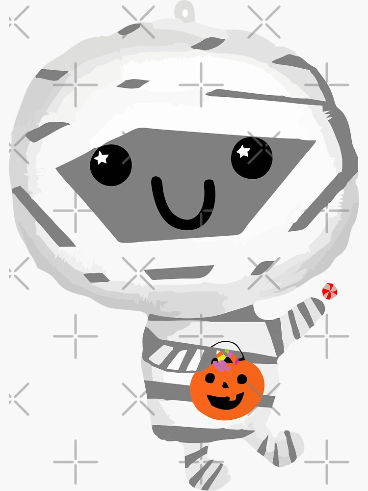 Halloween Balloon Mummy by stickysterscom