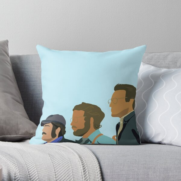 Jaws Silhouette Throw Pillow
