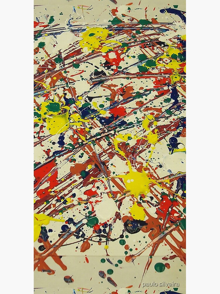 Jackson Pollock, digitally modified, fine art decor and clothing by hypnotzd