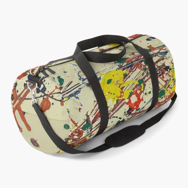 Jackson Pollock, digitally modified, fine art decor and clothing Duffle Bag