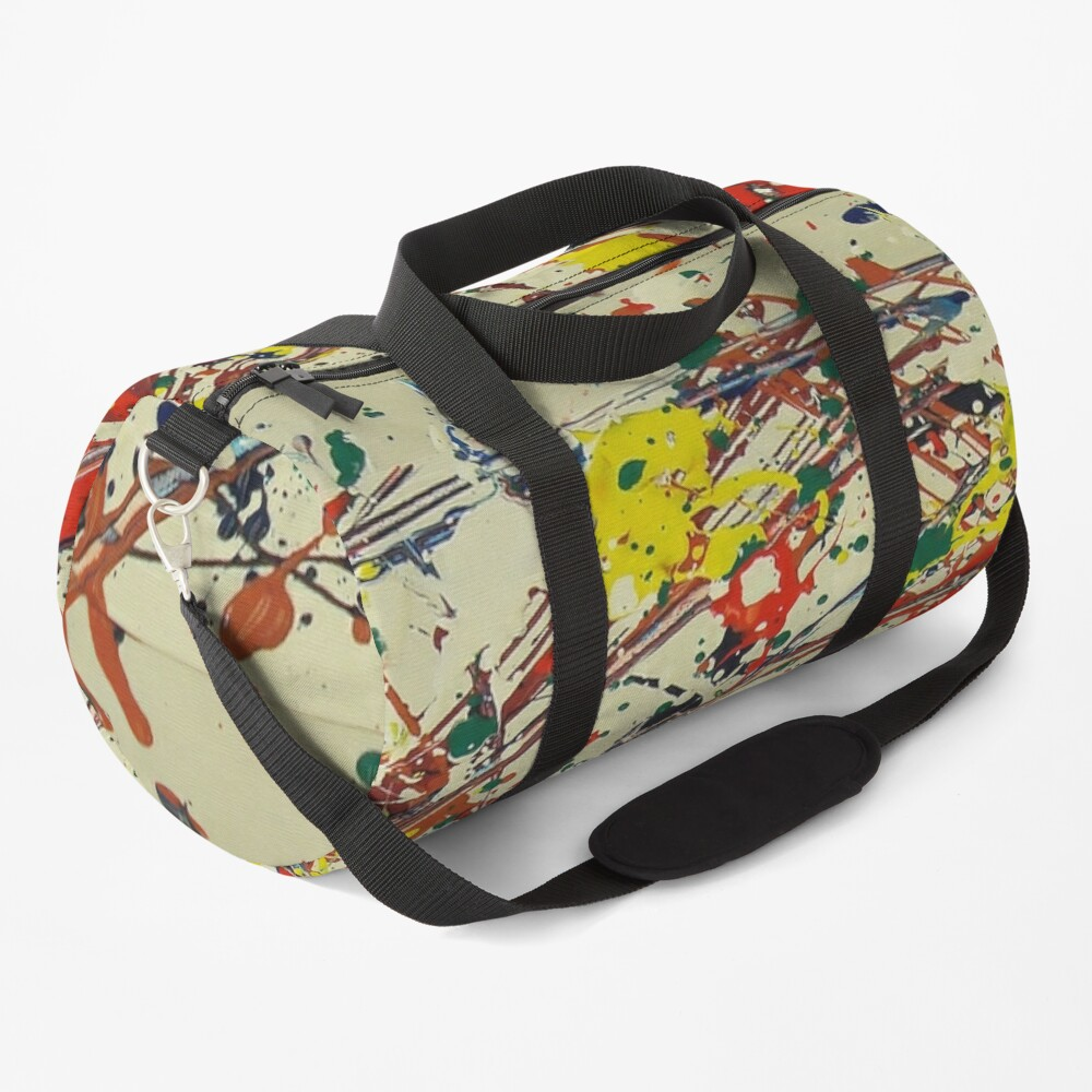 Jackson Pollock, digitally modified, fine art decor and clothing Duffle Bag