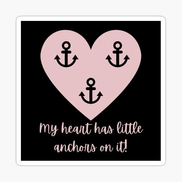 Navy Wife Heart Anchor Sticker