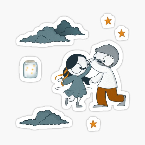 Dancing John & Catana Sticker