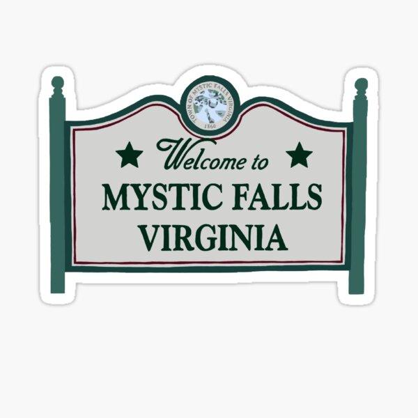 Cartel de bienvenida de Mystic Falls Pegatina