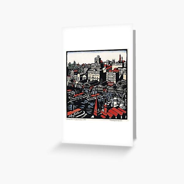"""""""Circular Quay"""" by Margaret Preston Greeting Card"""