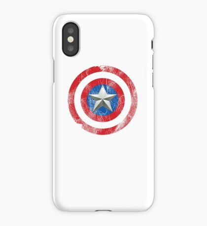 Cap America Shield with star iPhone Case