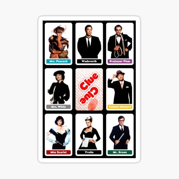 Clue (1985) - Suspect Cards Sticker