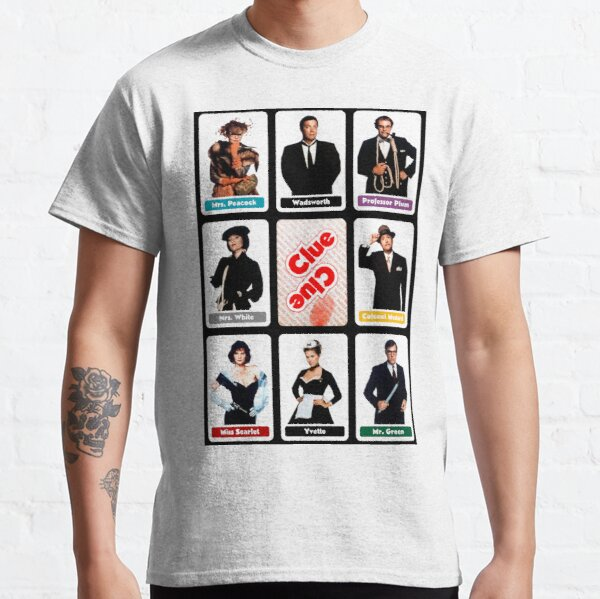 Clue (1985) - Suspect Cards Classic T-Shirt