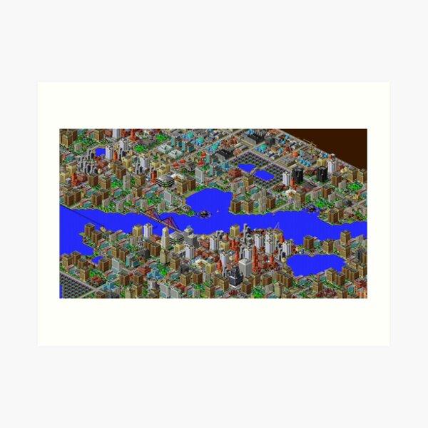 SimCity 2000 HD Screenshot Art Print