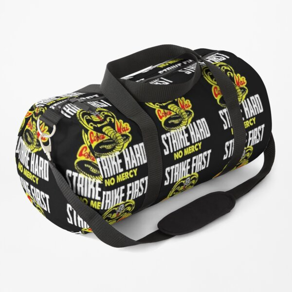 Cobra Kai Strike First Strike Hard No Mercy Vintage Duffle Bag