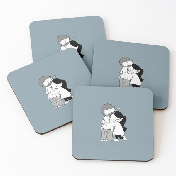 Pajama Hug Coasters (Set of 4)