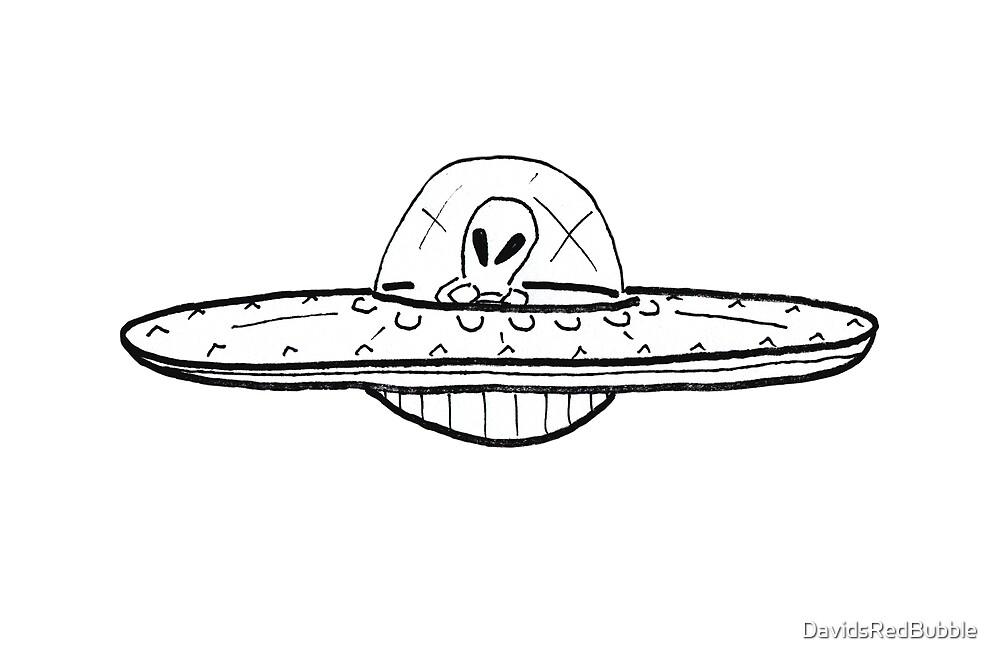 UFO Alien Spaceship by DavidsRedBubble