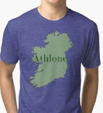 Athlone Ireland with Map of Ireland Tri-blend T-Shirt