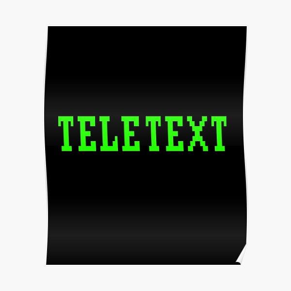 TELETEXT Ceefax BBC Broadcast Teletext Design Poster