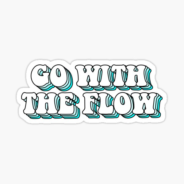 aesthetic blue go with the flow Sticker
