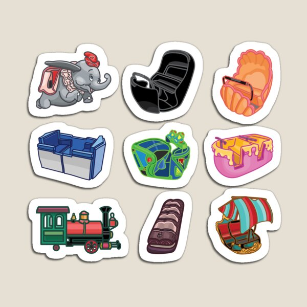 Ride Vehicles (without Caption) Magnet