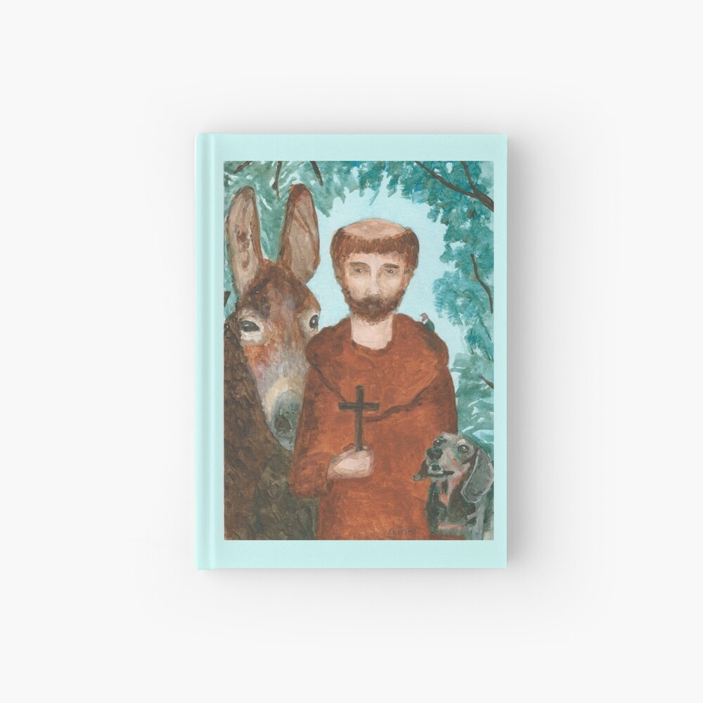 Saint Francis with Animals Hardcover Journal