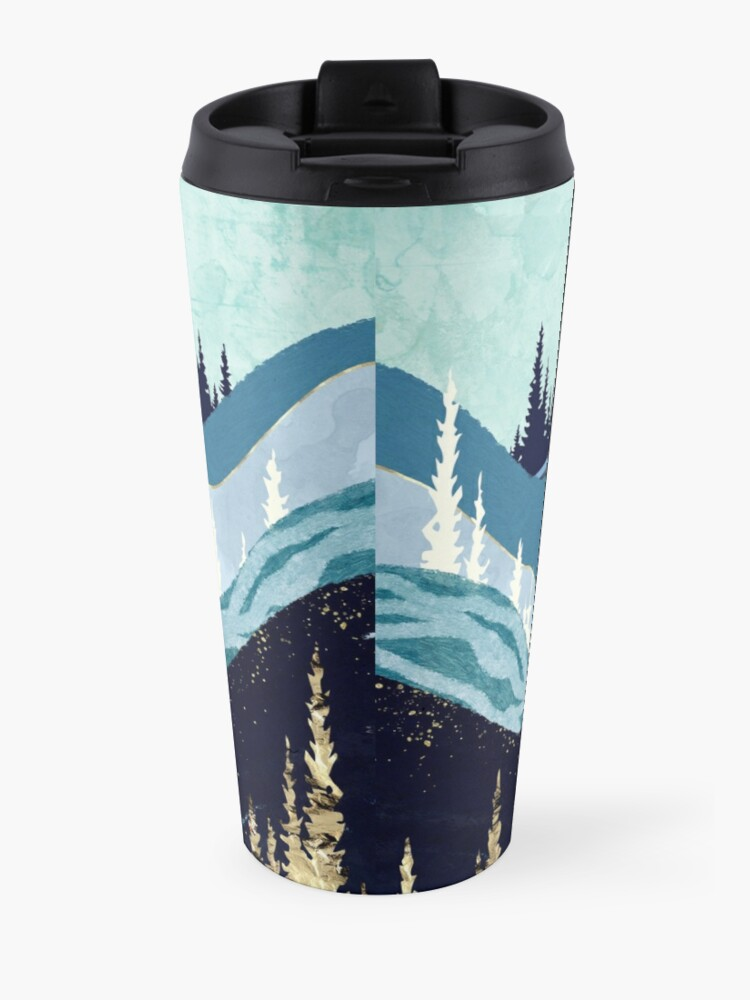 Alternate view of Blue Forest Lake Travel Mug