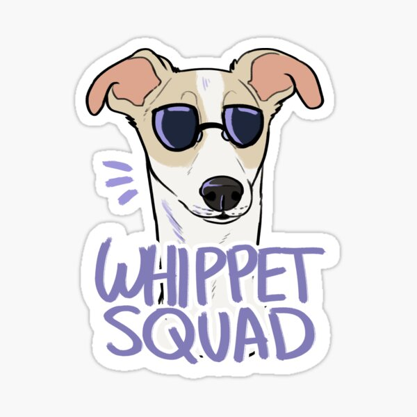 WHIPPET SQUAD (fawn) Sticker