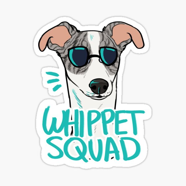 WHIPPET SQUAD (fawn brindle) Sticker
