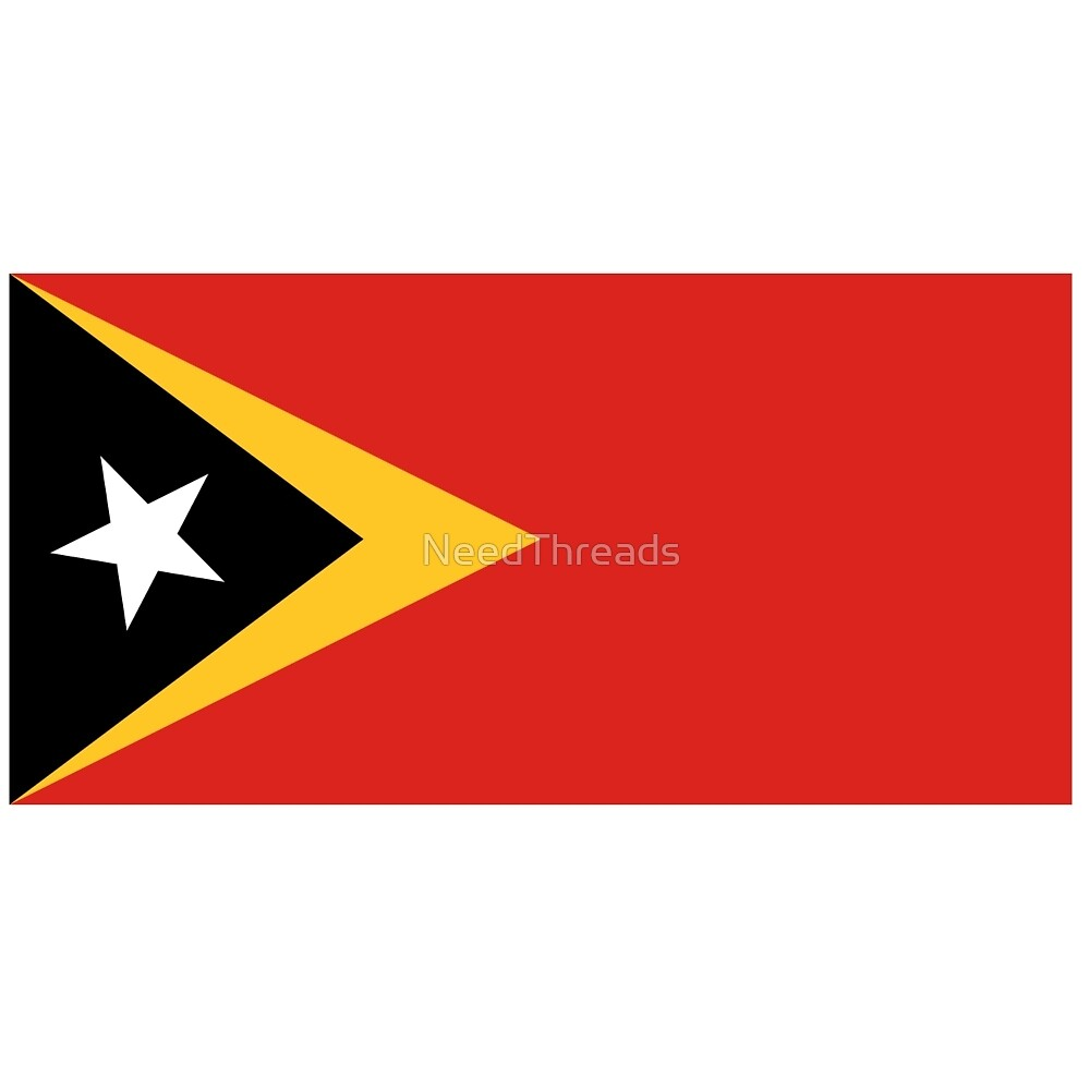 East Timor And Leste Flag by NeedThreads