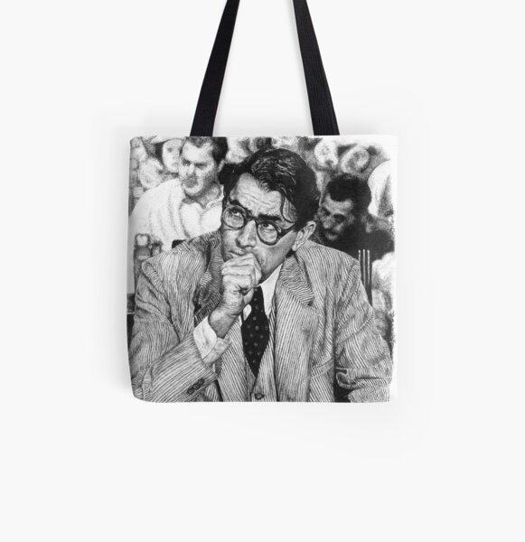 Atticus Allover-Print Tote Bag