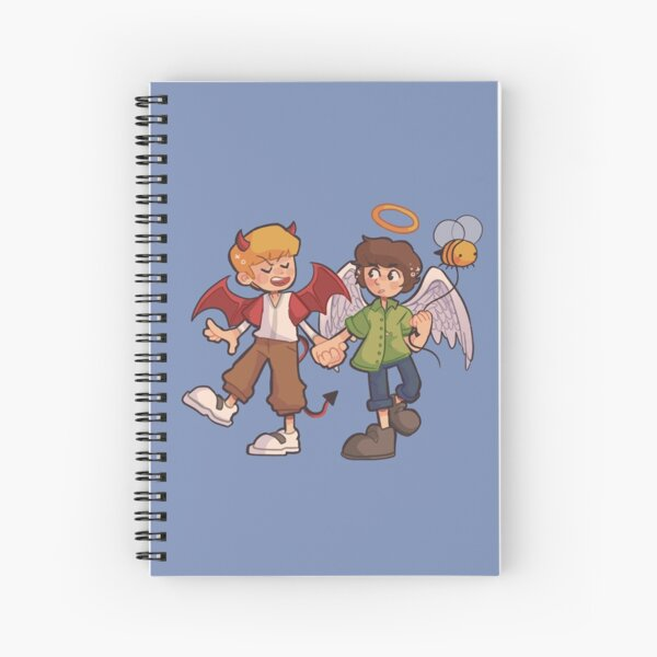 Tommy and Tubbo Angel/Devil Spiral Notebook