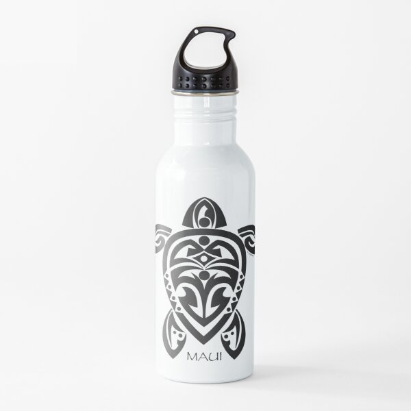Black Tribal Turtle Tattoo / Maui Water Bottle