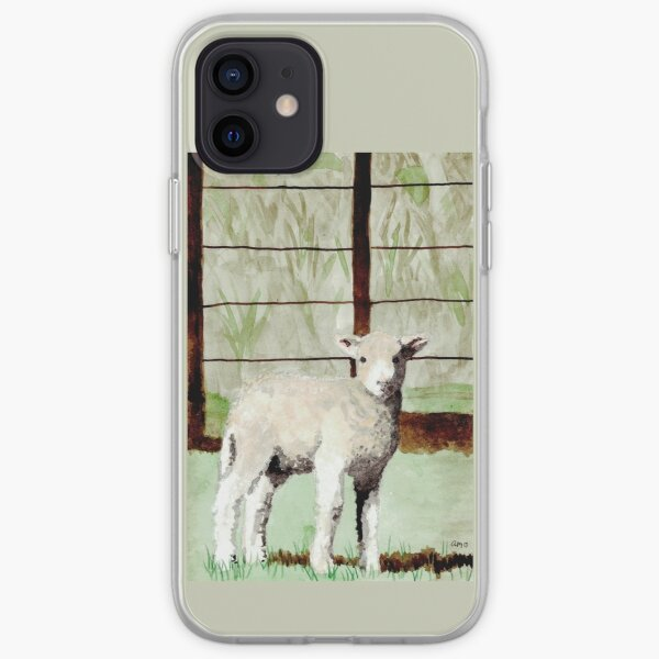 Lamb Illustration iPhone Soft Case