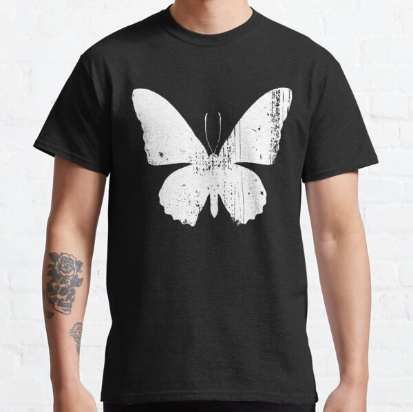Distressed Butterfly White Classic T-Shirt