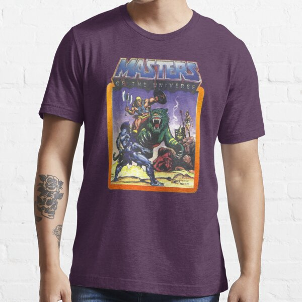 He-Man Masters of the Universe Battle Scene with Skeletor Essential T-Shirt