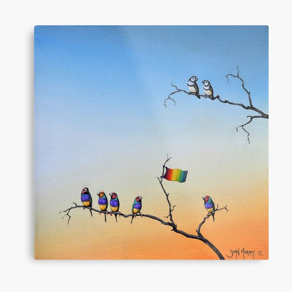 The Hippies Are Here Metal Print