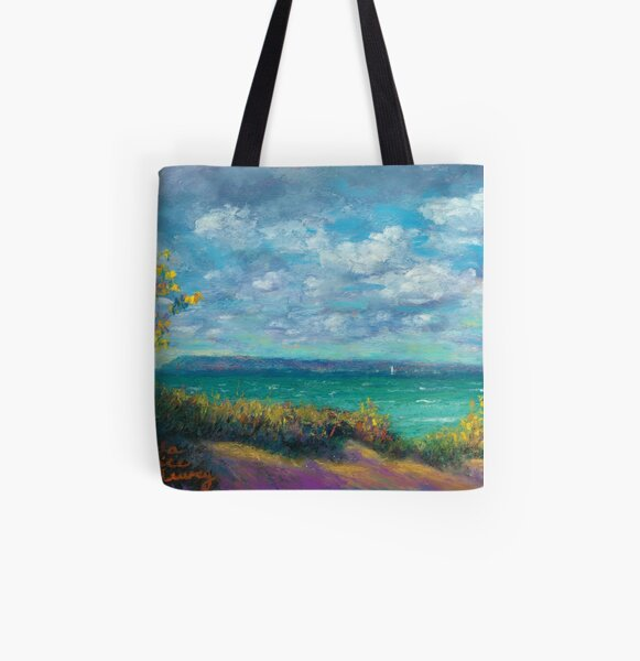 Clearing Autumn Skies All Over Print Tote Bag