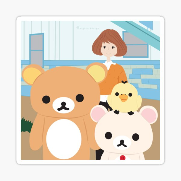 Rilakkuma and Friends with Kaoru  Sticker
